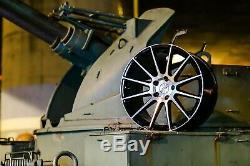 18 Roues Alliage Concave Multiple Rayons Noir Poli Ayr 02 Bp pour Jaguar