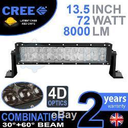4D 13 72w Cree LED Lumière Barre Combo IP68 Conduite Alliage Route 4 Roues