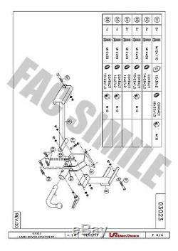 Attelage Fixe Col de Cygne pour Rover Discovery II 4WD 1998-2004 03023/F FRE2