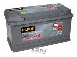 Batterie Fulmen FA1000 12v 100ah 900A pour BMW audi Mercedes idem H3