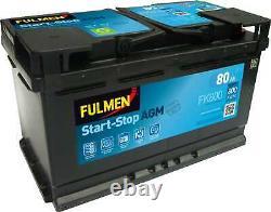 Batterie Fulmen Start-Stop AGM 80Ah/800A (FK800)