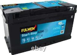 Batterie Fulmen Start-Stop AGM 95Ah/850A (FK950)
