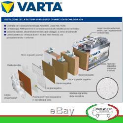 Batterie Voiture Varta F21 AGM 80ah 800a 12v Start&stop 580901080 315x175x190