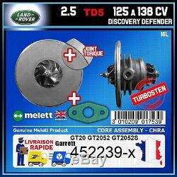 CHRA Melett Land Rover 75 Discovery Defender 2.5 125 138 CV Turbo 452239 GT2052
