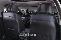De Luxe PU Cuir & Tissu Noir Aspect Diamant Siège Housses Pour Land Range Rover