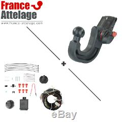 Jeu complet attelage pour Landrover Discovery 04- Amovible + Faisceau 7 broches