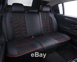 Land Range Rover Siège Housses Set Complet de Luxe PU Cuir & Tissu Noir