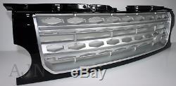 Land Rover 3 Grille Calandre avant Mise à Disco 4 Style Noir avec Argent