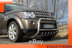 Land Rover Discovery 2009+ Pare-buffle Bas Avec Grille De Protection Carter Inox