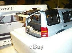 Land Rover Discovery 3 2005 1/18 Auto Art Argent Neuf Boite 74801