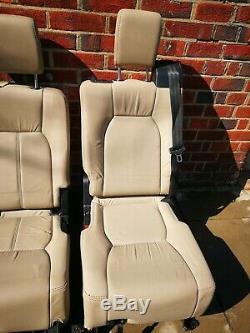 Land Rover Discovery 3 4 2nd Rangée Arrière Crème Alpaga Cuir Siège Publicité