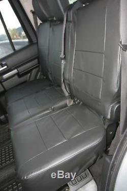 Land Rover Discovery 3 Entièrement sur Mesure Look Cuir Imperméable Noir Siège