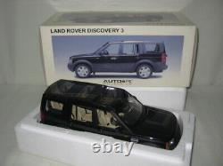 Land Rover Discovery 3 Noir Black Autoart 1/18 Neuf En Boite Ref 74802