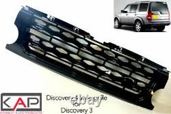Land Rover Discovery 3 Noir Brillant Discovery 4 Style Avant Grille Extension