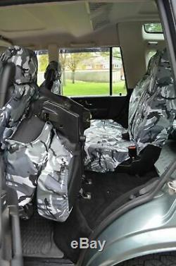 Land Rover Discovery Série 2 Imperméable Gris Camo avant Arrière Siège Housses