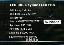 Land Rover LR4 / Discovery 4 2010-2016 LED DRL Fog Feux Éclairages Set Noir