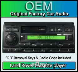 Land Rover Lecteur Cassette, Discovery Autoradio avec Code Radio + Amovible Clé