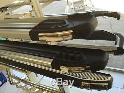 Marche-pieds latéraux LandRover Discovery 3 0409, Brillant Black 193cm