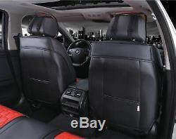 Premium Rouge & Noir Cuir Set Complet Housses de Siège pour Land Range Rover