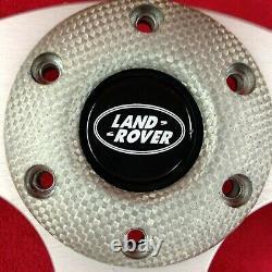 Véritable MOMO Jet 350mm Gris Argent Volant Cuir Pour Land Rover. 7D