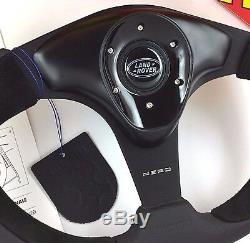 Véritable Momo Nero 350mm Volant Cuir Et 36 Dents Moyeu. Pour Land Rover